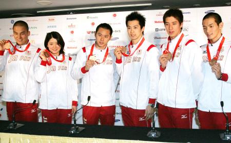 北京五輪競泳メダリスト